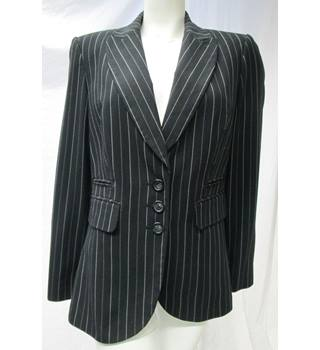 M&S Pin Stripped Jacket  Size 16 M&S Marks & Spencer - Size: 16 - Black