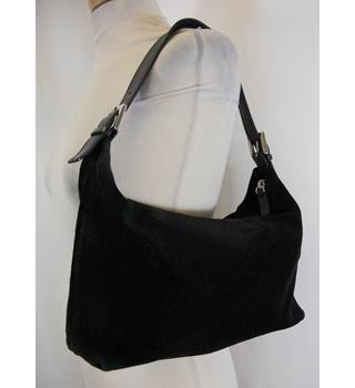 L K Bennett London - Black Suede Shoulder Bag
