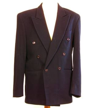 Willson - Size: M - Blue - Single breasted suit