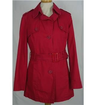 Sisley size M red trench coat
