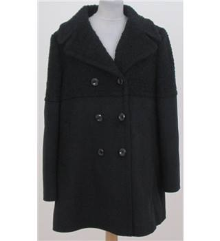 NWOT: Per Una Size 16:  Navy blue smart overcoat