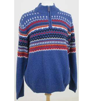 NWOT M&S Collection, size XL blue mix fair isle jumper
