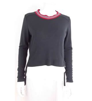 Zara Size M Navy Blue Jumper With Illusion Shirt