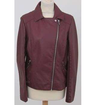 NWOT Marks & Spencer, size 12, purple faux leather jacket
