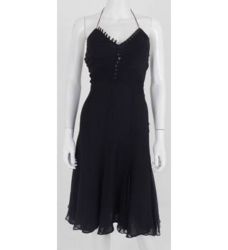 Karen Millen Size 8 Black Knee Length Dress