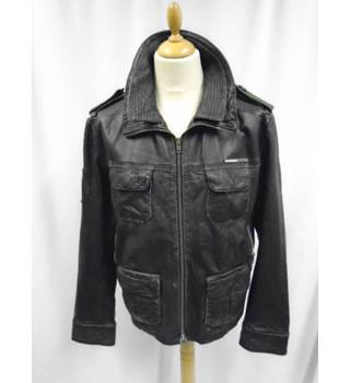 Super Dry - Size: XL - Black - Leather Jacket