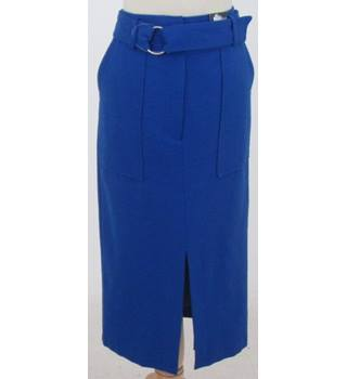 NWOT M&S Collection Size: 12 - Cobalt Blue - Long skirt with belt & front slit