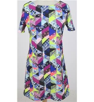 Size 8: Pink multi-coloured check tunic dress