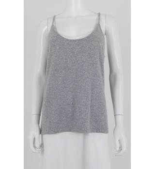 Pure Collection Size 18 Grey 100% Cashmere Vest Top