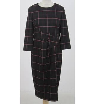 NWOT M&S Size:16 black & pink check afternoon dress