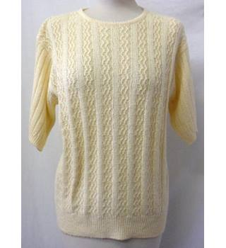 Honor Millburn - Size: M - Dark Cream - Short-Sleeved Jumper