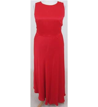 NWOT M&S Size:16 red sleeveless dress