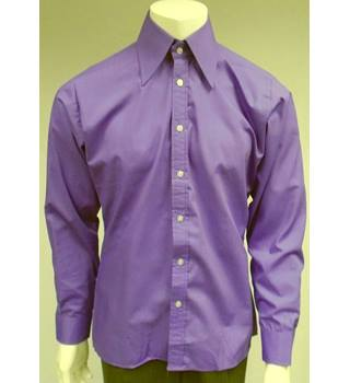 "Vintage - Staggers By Stagman - 16"" Collar- Purple - Shirt"