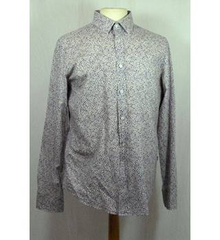 Floral Print Cotton Shirt from Hugo Boss in a Large Slim Fit size