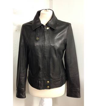 Keenan Leather Jacket The Keenan Leather Company - Size: 10 - Black - Casual jacket / coat