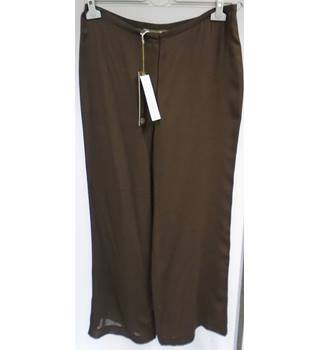BNWT - Fenn Wright Manson - Size 14 - Bitter Chocolate - Wool Gauze With Silk Waistband- Trousers