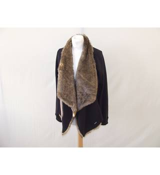 Hollister XS Shawl Style Faux Fur Jacket Hollister - Size: XS - Black - Jacket