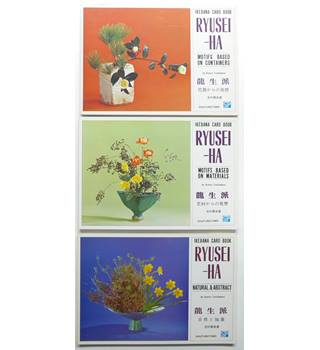 Ryusei-Ha. Three Ikebana Card Books : Natural & Abstract; Motifs Based on Containers; Motifs based on Materials.