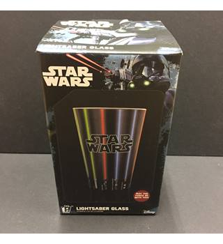 Star Wars Lightsaber Glass Boxed