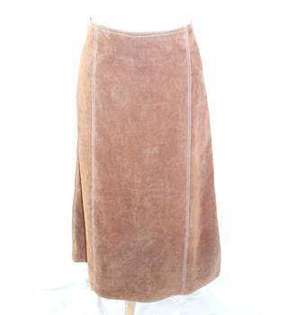 Conrad Long Suede Brown Skirt Size 14 Conrad - Size: 14 - Brown - Long skirt