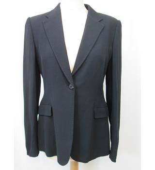 Jigsaw - Size: 12 - Black Wool Blend - Fitted Jacket
