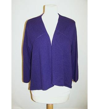 M&S Marks & Spencer - Size: L - Purple - Cardigan