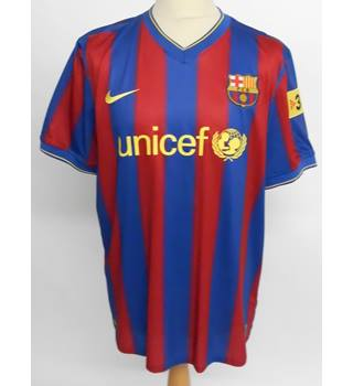 Nike Barcelona Red & Blue Football Top Size: XL