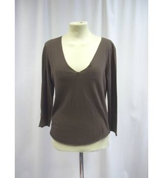 Jigsaw - Size: S - Brown - Long sleeved top