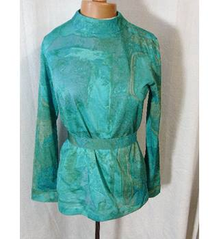 Vintage Bernat Klein size: 14 green/blue mix top