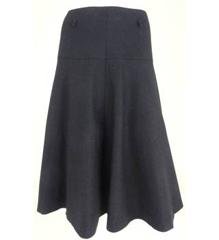 Laura Ashley size: 8 navy wool knee-length skirt