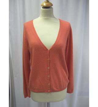 Pure  - Size: 12 - Pale Orange - 100% Cashmere - Cardigan