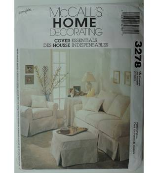 McCall's Home Decorating Cover Essentials sewing pattern 3278 Unused