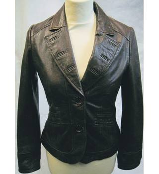Principles Petite brown leather jacket size 6 EU 34 Principles - Size: 34 - Brown - Casual jacket / coat
