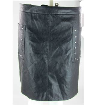 NWOT Indigo Collection, size 20 black faux leather skirt