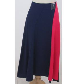 M&S Limited Edition Size: 10 - Pink & Navy - A-line asymmetrical skirt