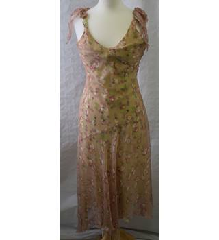 Nougat pink and green silk dress size S Nougat - Size: S - Pink - Summer