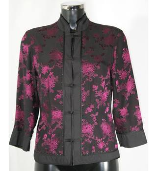 Monsoon Jacket Size: 10 - Black with pink design
