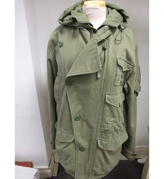 BNWT French Connection Parka-style Green Canvas Coat/Jacket French Connection - Size: M - Green - Parka