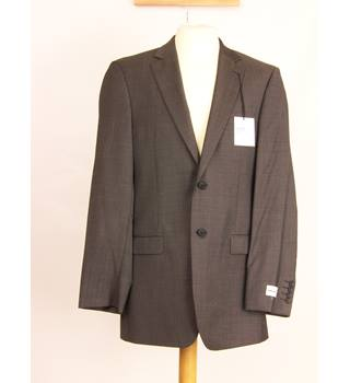 M&S Marks & Spencer - Size: L - Grey - Double breasted suit