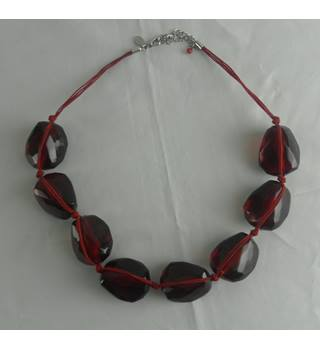 Small Red Beaded Necklace