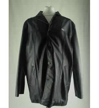 Ben Sherman Black Leather coat XXL