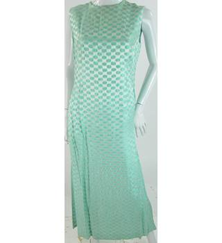 VINTAGE - Unbranded - Size: 12 - Metallic silver and Green - Long dress