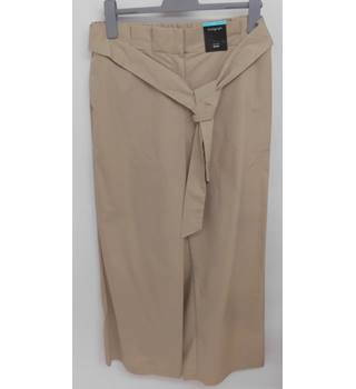 M&S Marks & Spencer - Size: 14 - Cream - Trousers