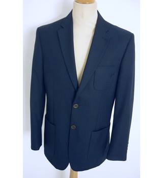 "M & S  Size: M, 38"" chest, regular fit Navy Blue Casual/Stylish Polyester & Viscose Blend Single Breasted Jacket"