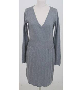 H&M: Size 12:  Grey fine knit cable skirt dress