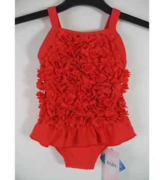 Marks & Spencer Baby Coral Red Swimsuit Size 3 - 6 months