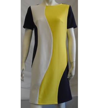 NWOT M&S Collection - Size: 8 - Navy & Yellow Mix - Dress