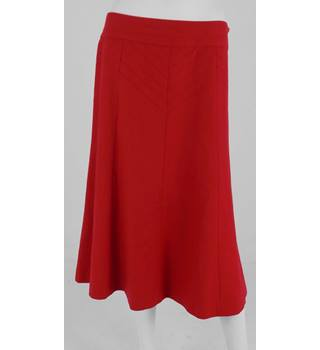 Coast Size 12 Crimson Red Panel A Line Skirt
