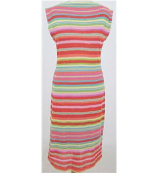 Ralph Lauren: Size M: Multi-coloured fine knit linen & silk mix tube dress