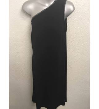 Whistles, size 14 black asymmetrical dress